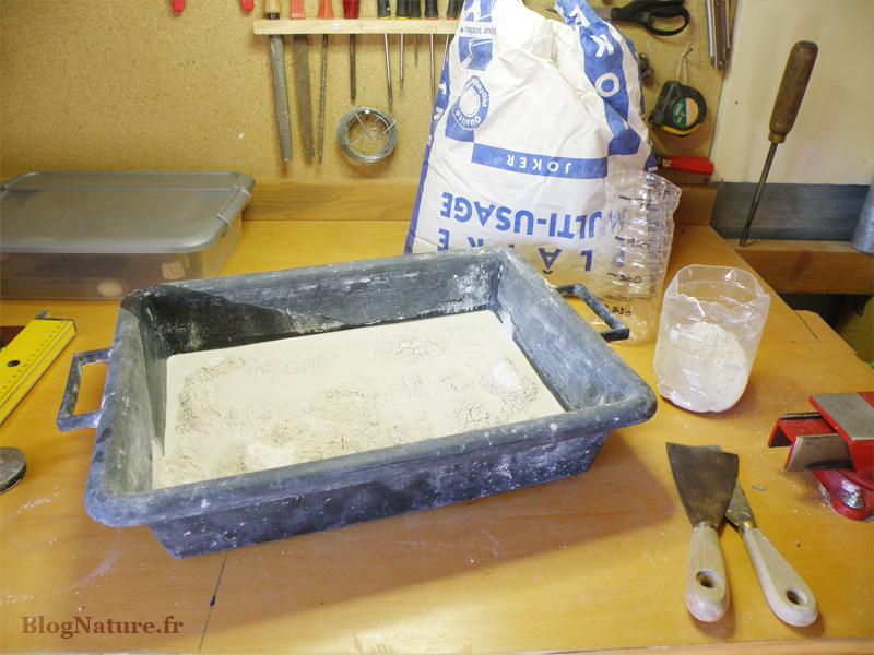2. Gâchage du plâtre