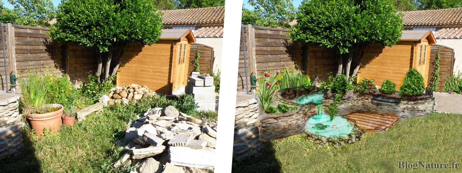 Construire Son Bassin De Jardin rêve de gosse : un bassin dans le jardin ! - blognature.fr