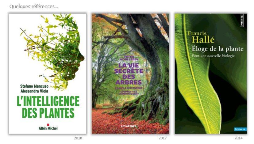 Ouvrages de référence sur l'intelligence des plantes.