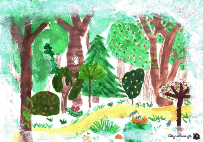 Dessin forêt